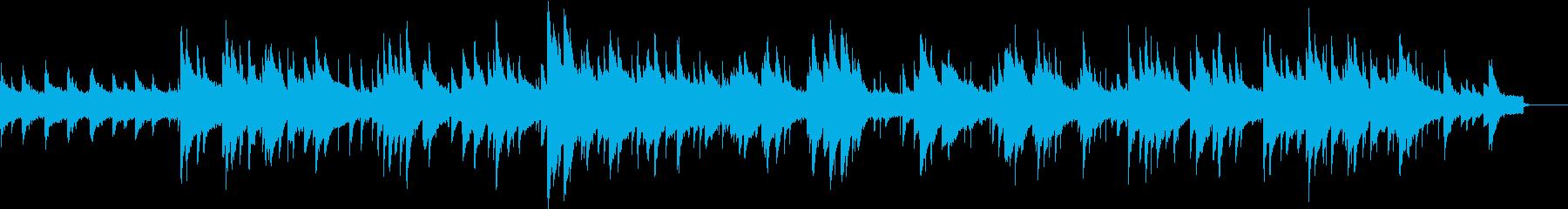 チェレスタとパイプオルガンの聖なる曲の再生済みの波形