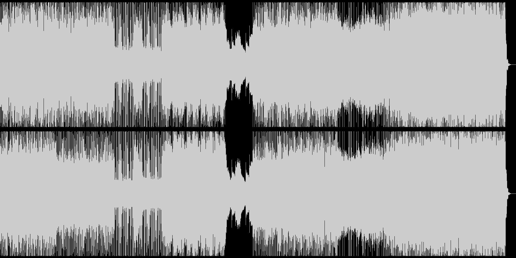 颯爽と駆抜けるパンクハードロックはこれの未再生の波形