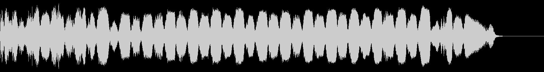 不穏 トランペット フラッター ドライの未再生の波形
