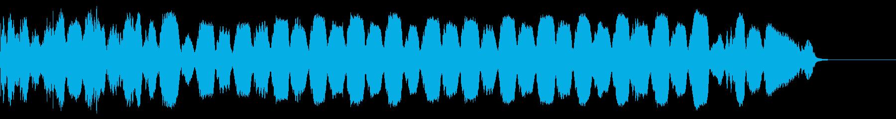 不穏 トランペット フラッター ドライの再生済みの波形