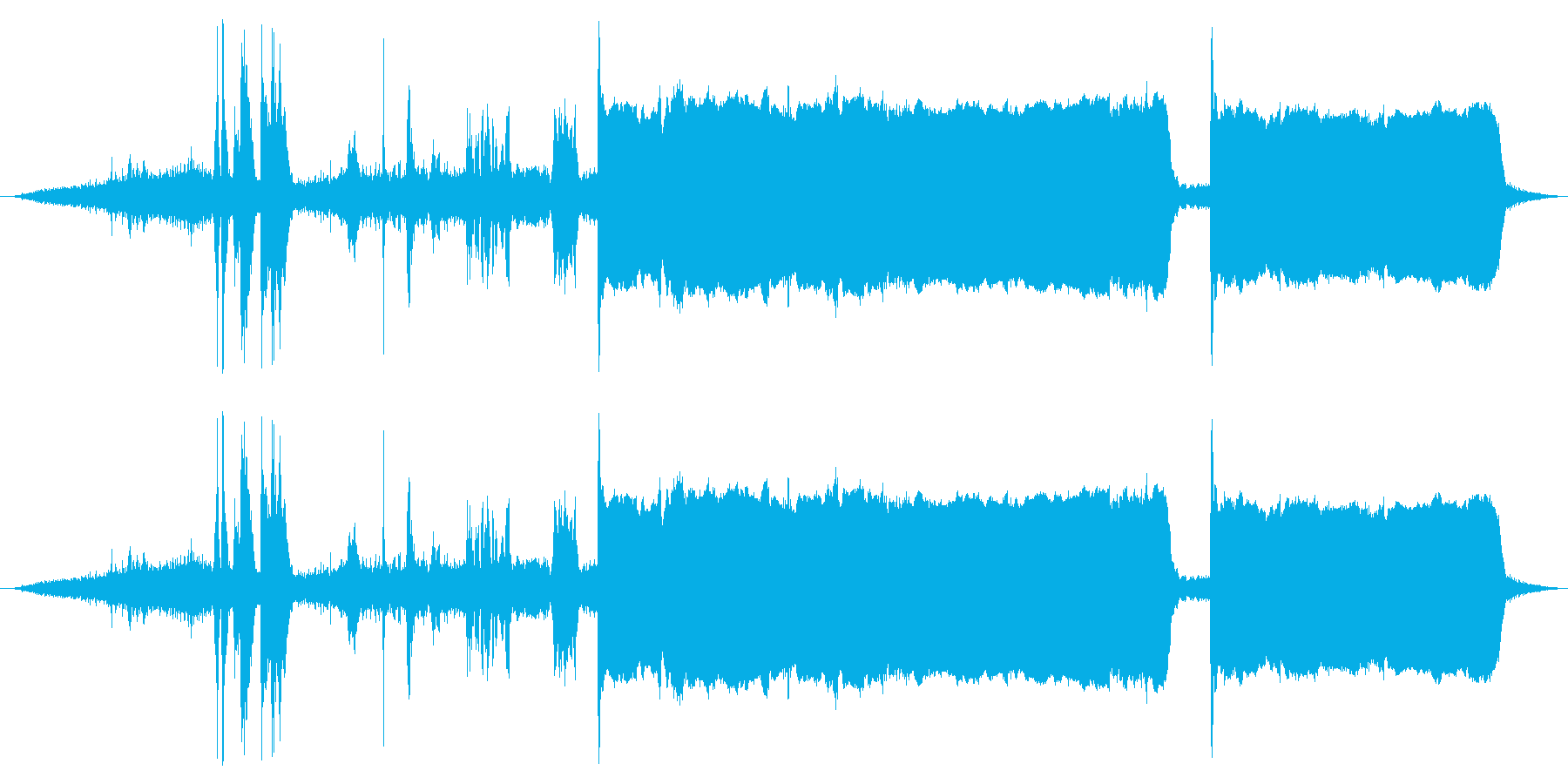 サイレン対空警報の再生済みの波形