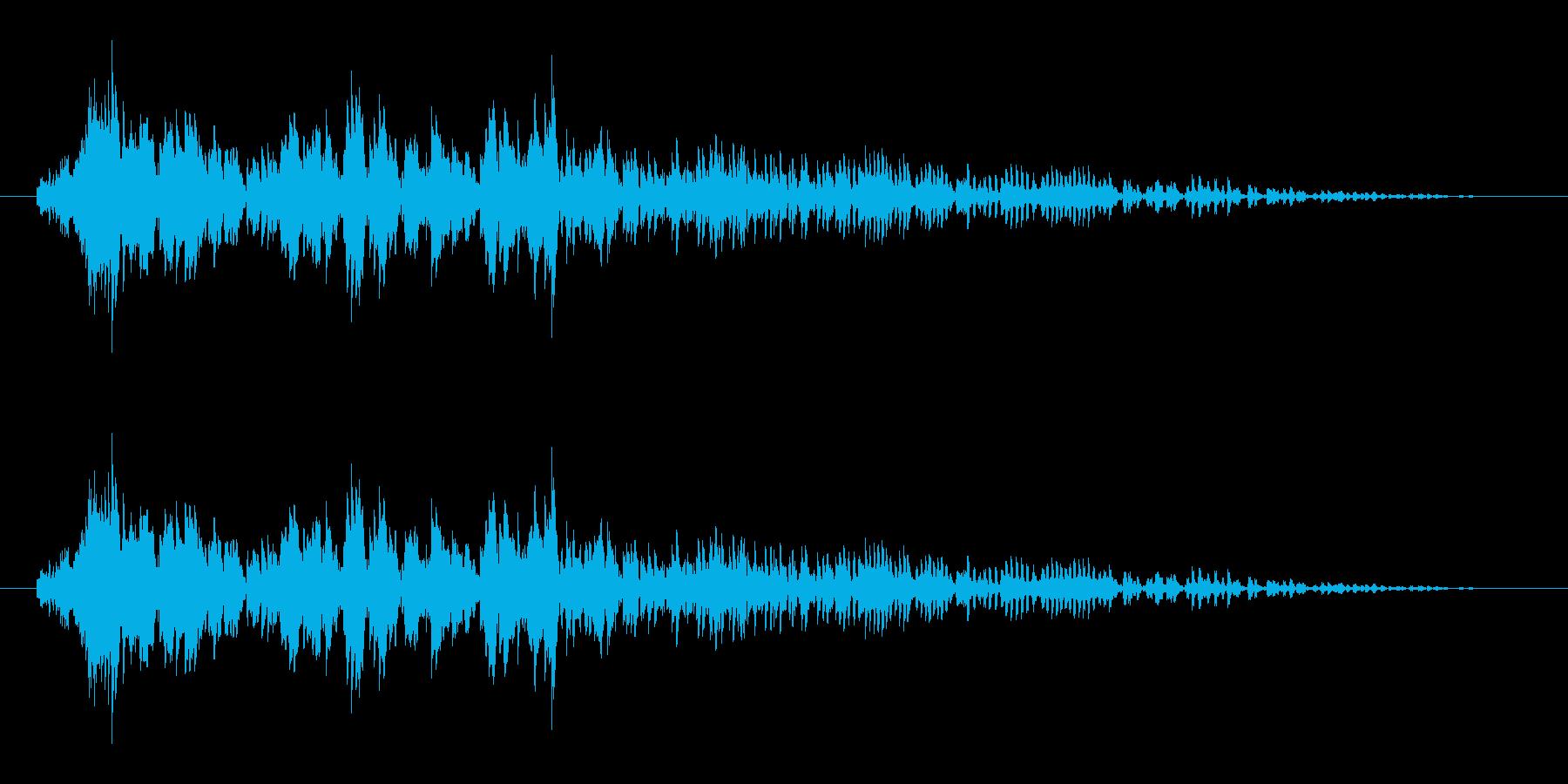 怪物の叫び声1の再生済みの波形