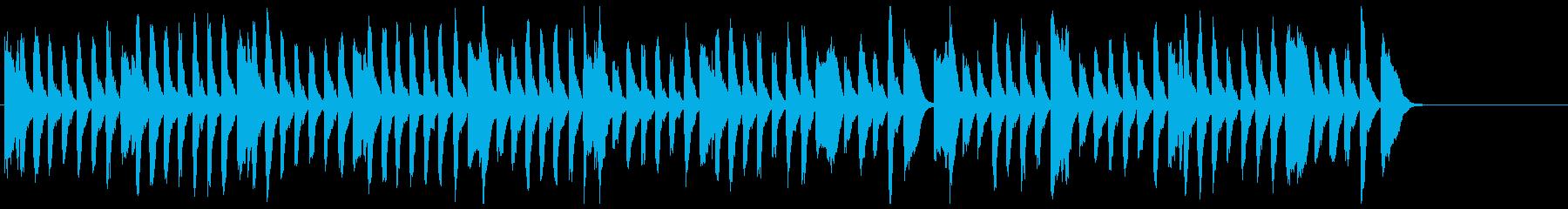 元気な雰囲気のピアノソロ曲の再生済みの波形