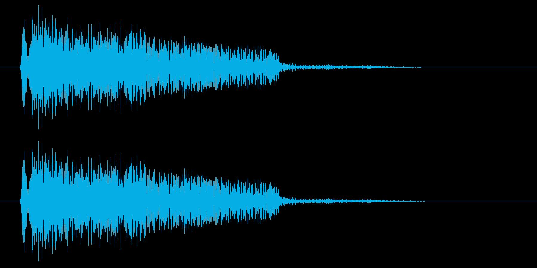 ヒュオ~ン(コミカルなUFOの飛行音)の再生済みの波形