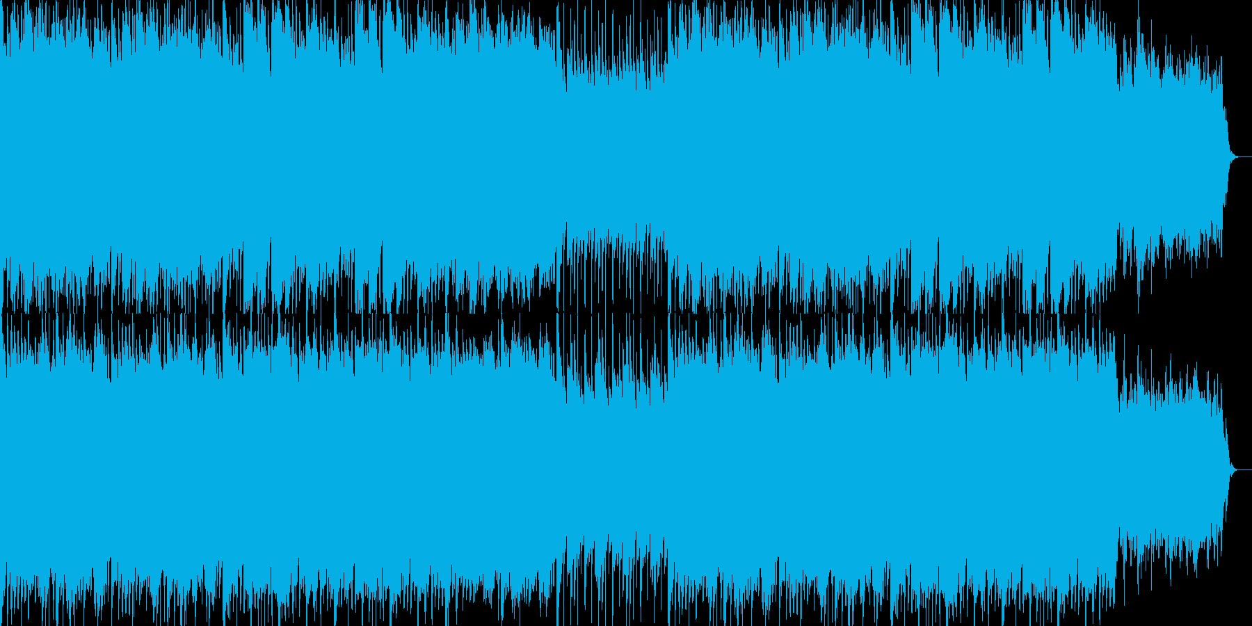 マリンバとアコーディオンの明るい曲の再生済みの波形