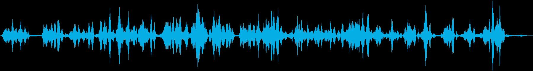 明るい散乱した失われた電気音声通信の再生済みの波形
