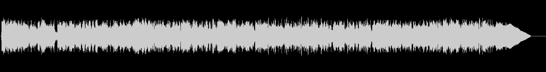 エレキギターによるロック調の激しいBGMの未再生の波形