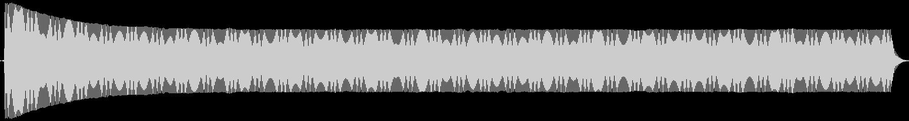 ポヨヨヨ。言葉を伏せる音(低)の未再生の波形