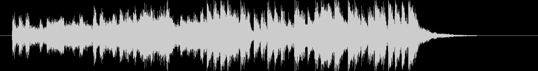 躍動感ある軽快なシンセポップジングルの未再生の波形