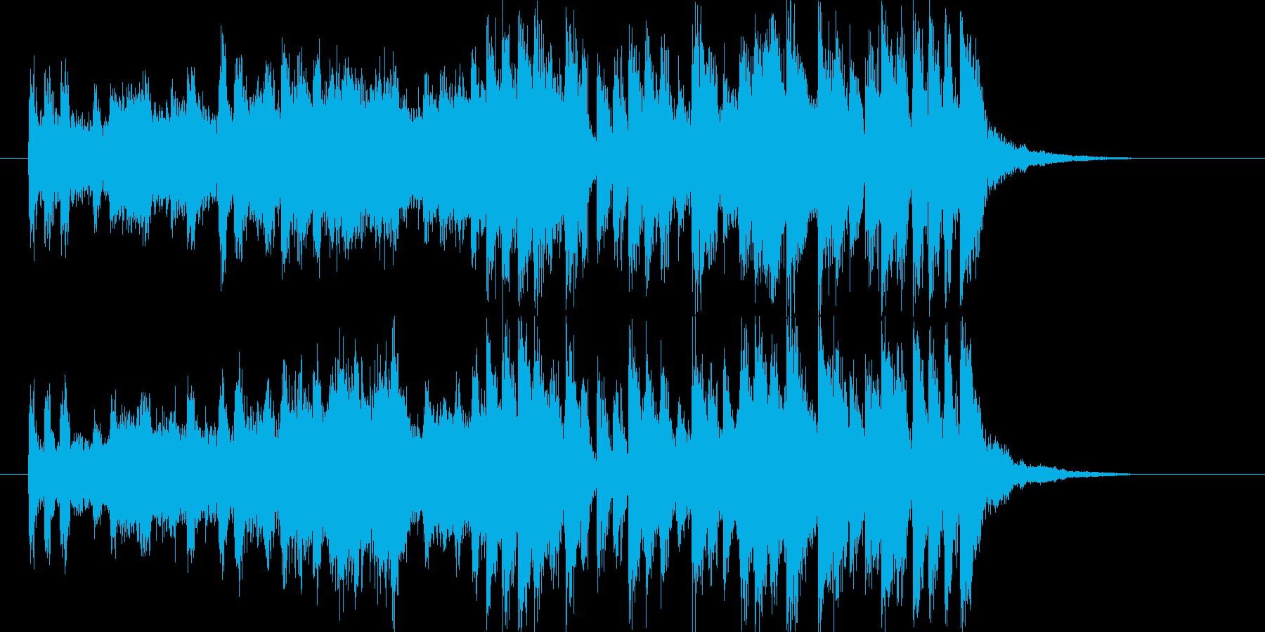 躍動感ある軽快なシンセポップジングルの再生済みの波形