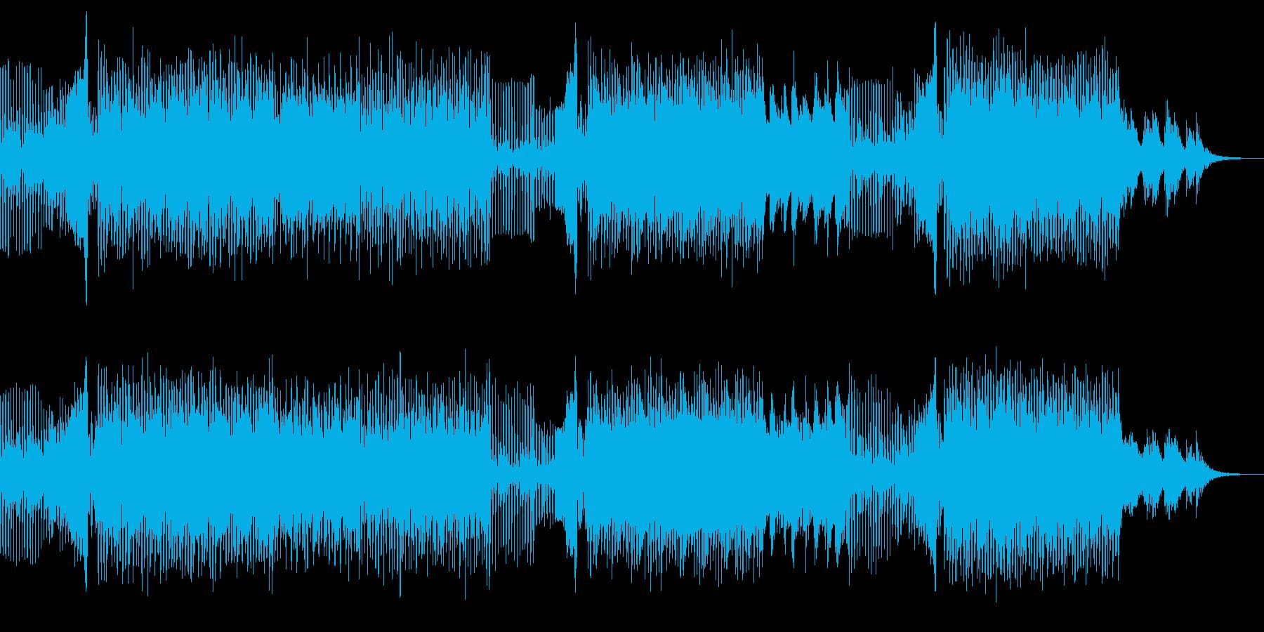 軽快でクールなハウスミュージックの再生済みの波形