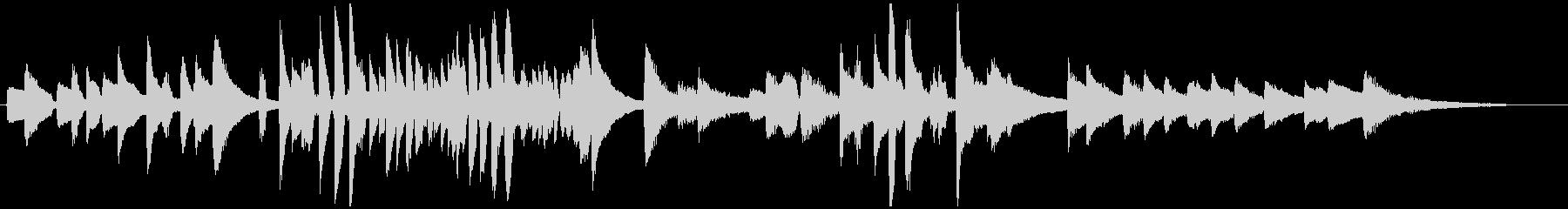古典的なラウンジジャズピアノの未再生の波形