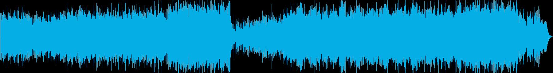 ジブリ風のノスタルジックなマンドリン曲の再生済みの波形