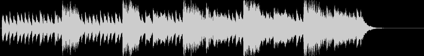 チェレスタで奏でるスリリングなサウンドの未再生の波形