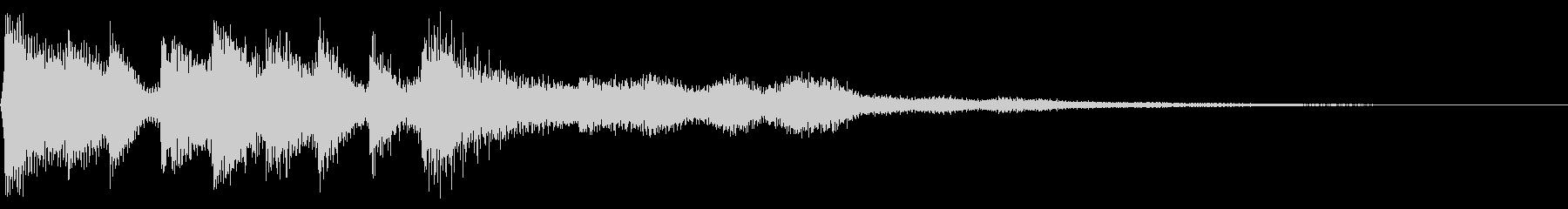 レトロなゲームオーバー音 8bit ミスの未再生の波形