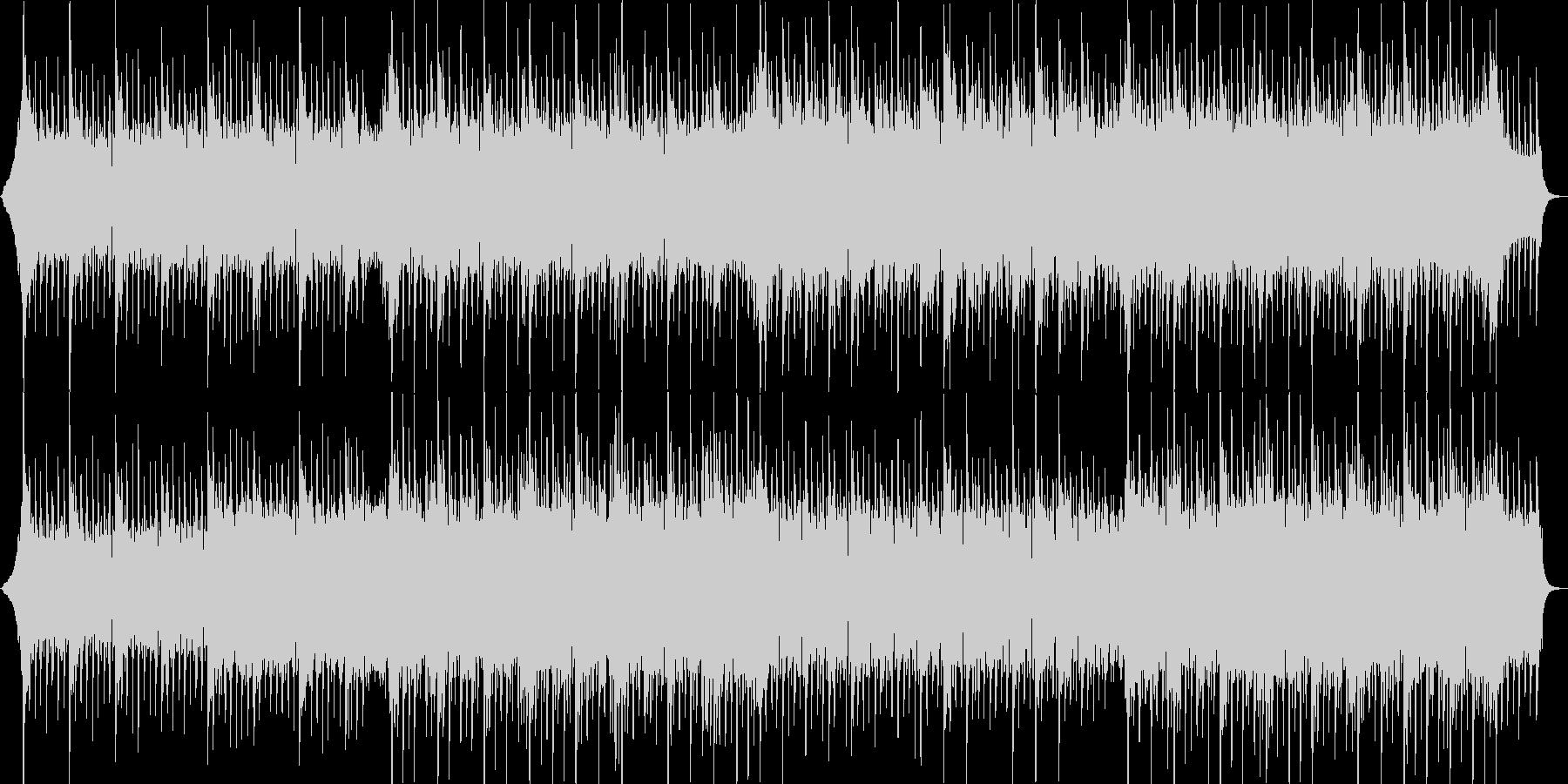 夏、四つ打ちロック系ポップの未再生の波形