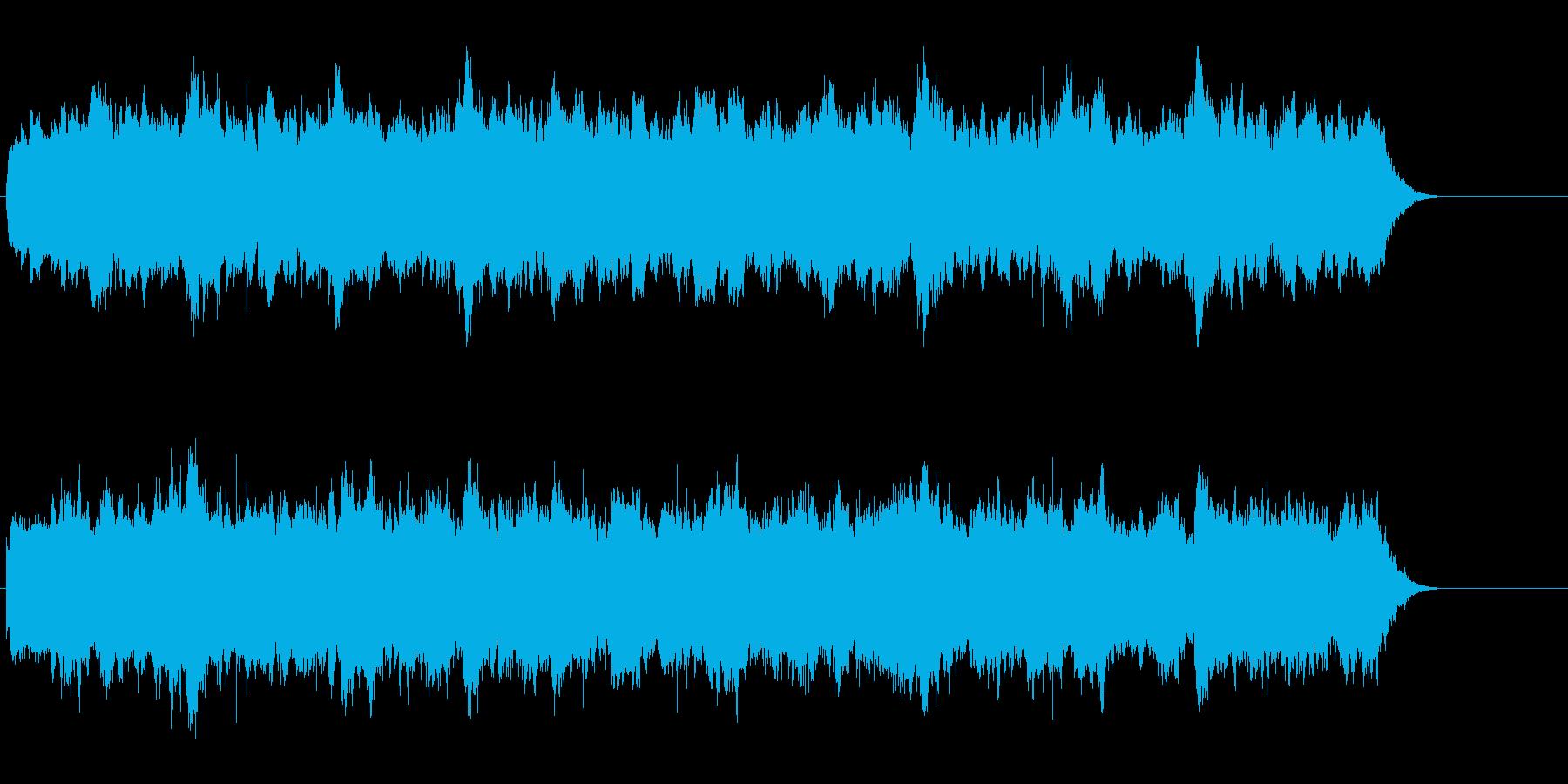 浮遊感のある宇宙的なアンビエントの再生済みの波形