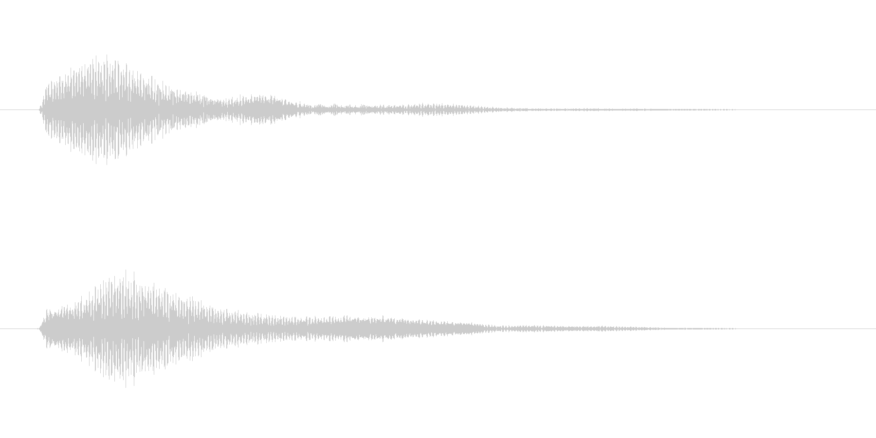 決定/クリック/選択音(和音/シンセ)の未再生の波形