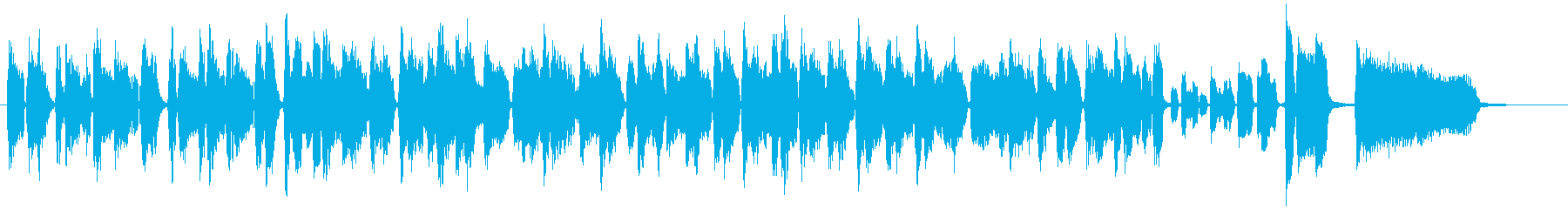 ほのぼのブルージーなオルガンBGM2の再生済みの波形