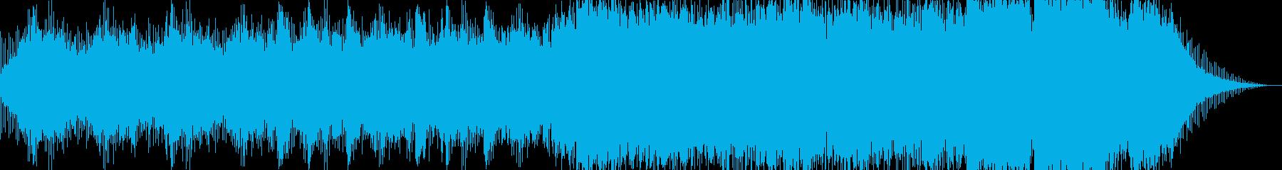 ホラー映画のオープニング風インストの再生済みの波形