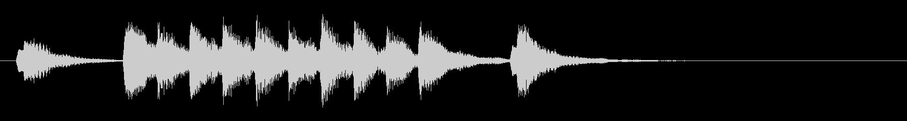 コミカル ほのぼの ジングル 木管 4秒の未再生の波形