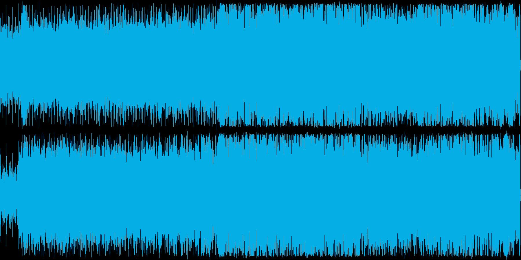 レースゲームや戦闘系に向いているBGMの再生済みの波形