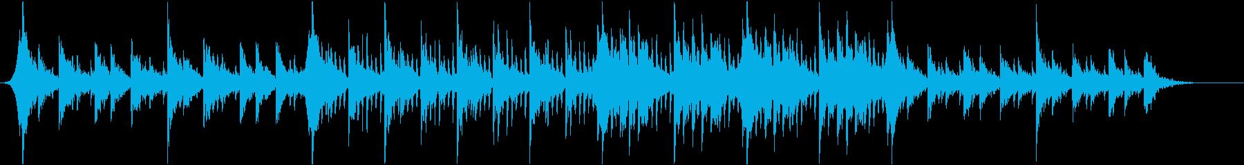 アコースティック系 静かで切ない四つ打ちの再生済みの波形