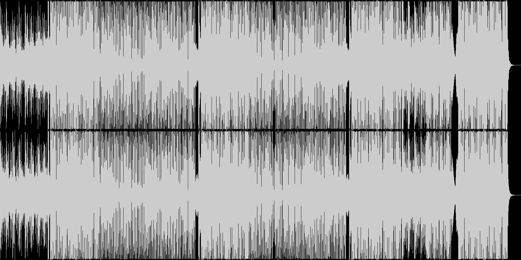ヨガや筋トレに映える爽やかなBGMの未再生の波形