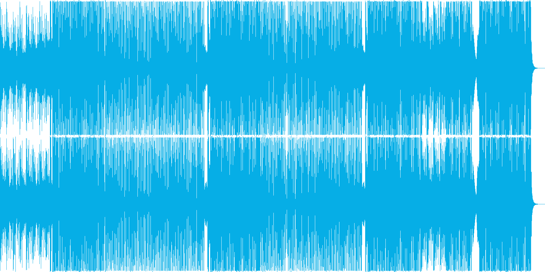 ヨガや筋トレに映える爽やかなBGMの再生済みの波形