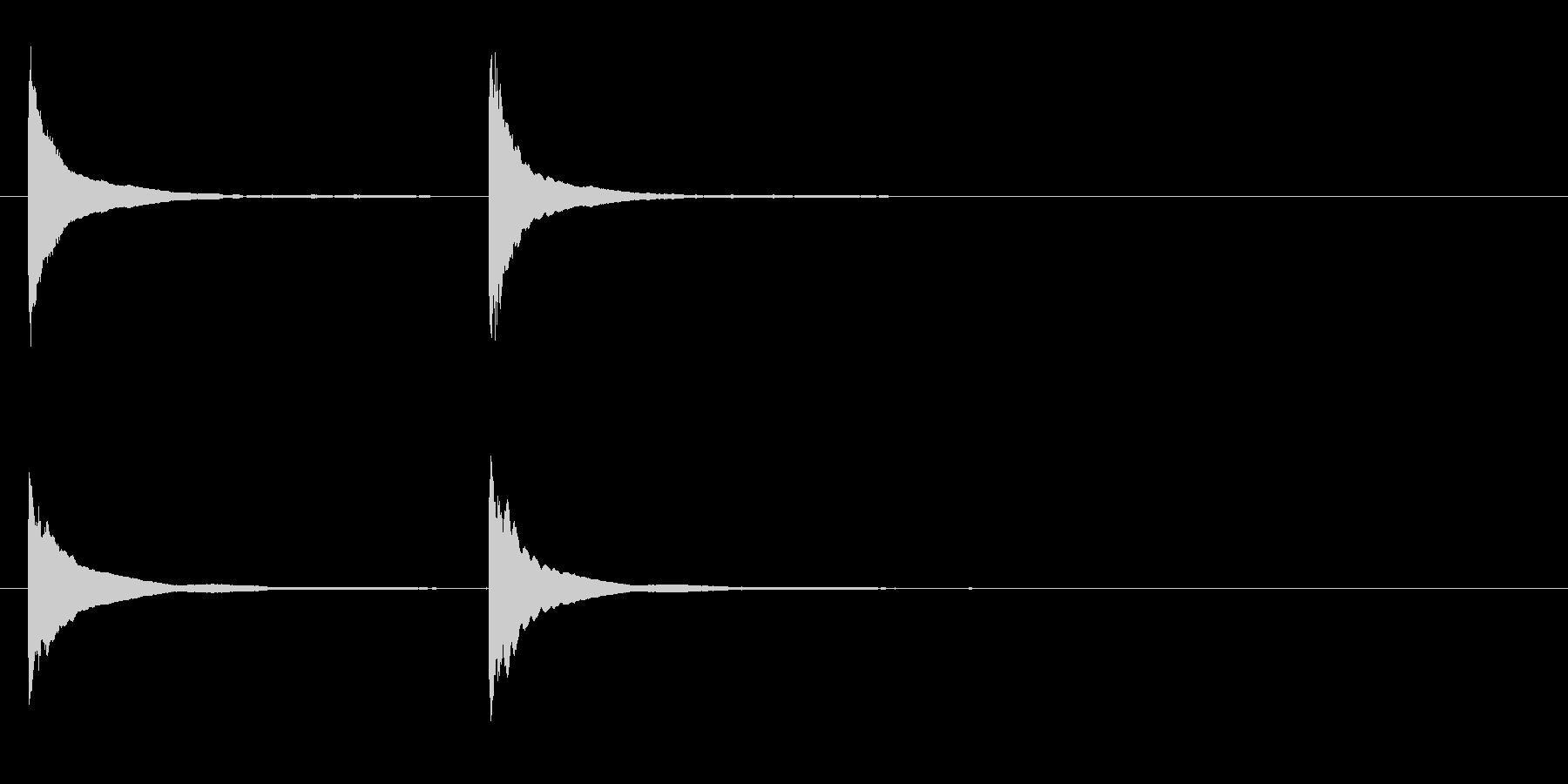 「チンチン」邦楽の鉦、松虫の連続音+FXの未再生の波形