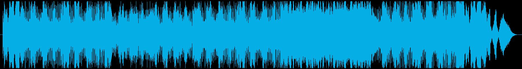 バロック調の楽曲をヒップホップにのせての再生済みの波形