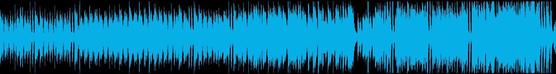 楽しいトラッド日常曲(ループ)の再生済みの波形