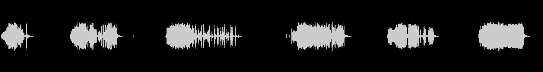 さまざまな電気アークの未再生の波形