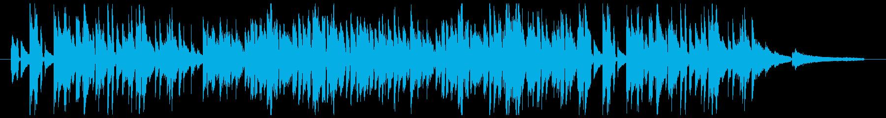 秋をイメージした切なげなピアノ曲の再生済みの波形