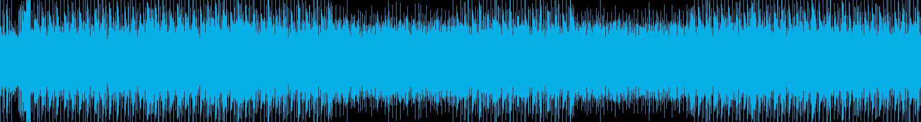 シューティング等のゲームBGM/ループ可の再生済みの波形