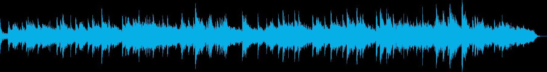ピアノとシンセによる春のイメージの再生済みの波形