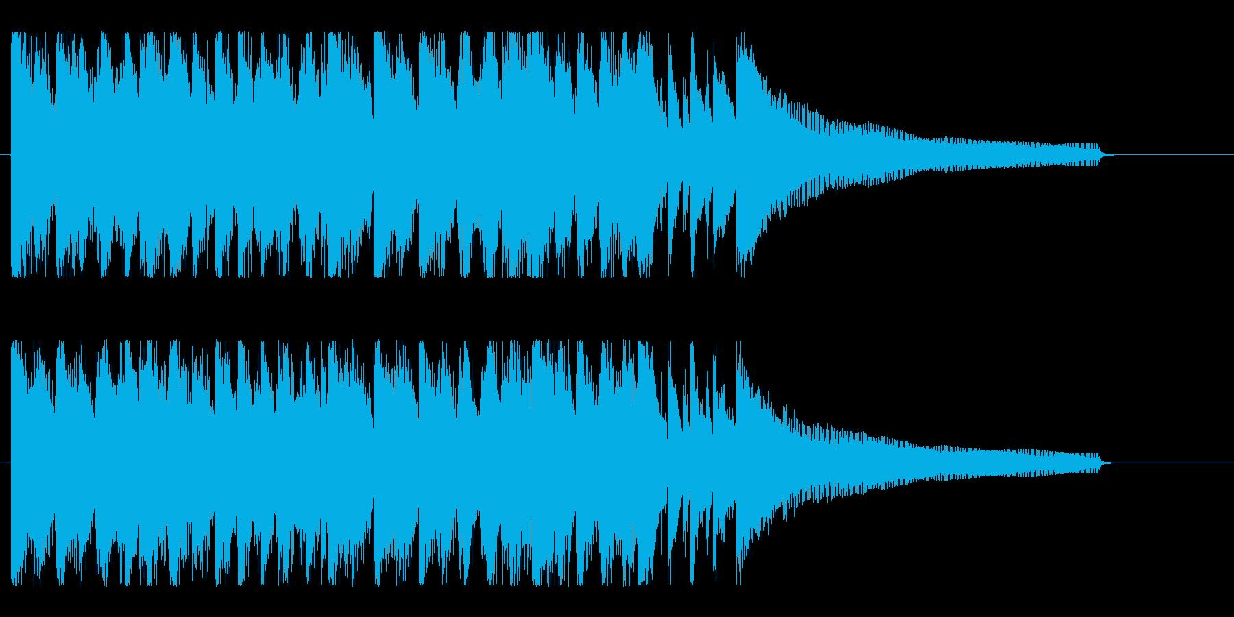 ハッピー、ポジティブ!明るいポップロックの再生済みの波形