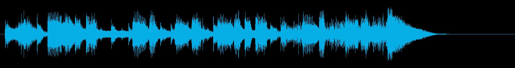 ファンキーなジングルの再生済みの波形