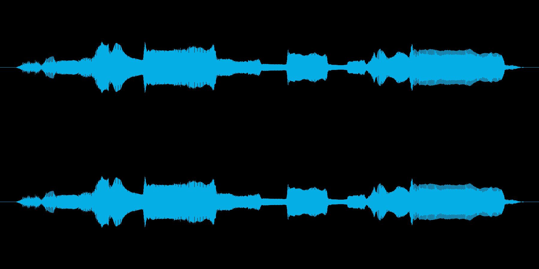 鳴き声 男性の祈りアラビア09の再生済みの波形