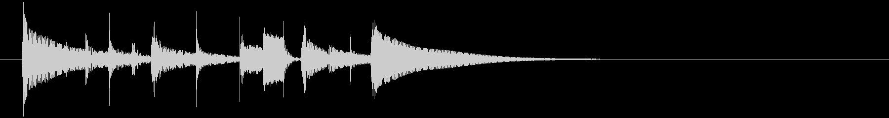 パーカッションだけのジングル3の未再生の波形