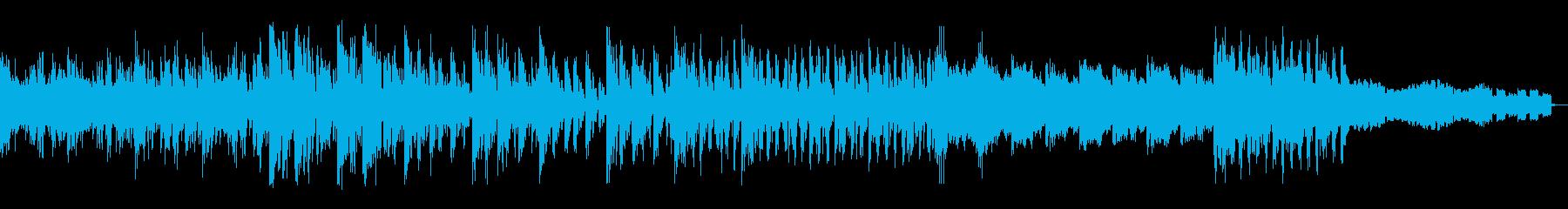 映画のアクションシーンのようなBGMの再生済みの波形