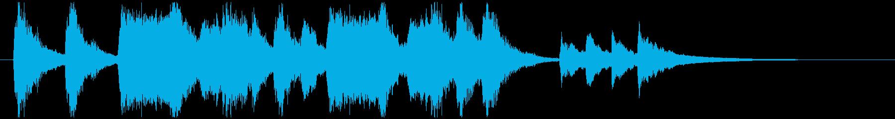 のんびり、おどけたオーケストラロゴの再生済みの波形