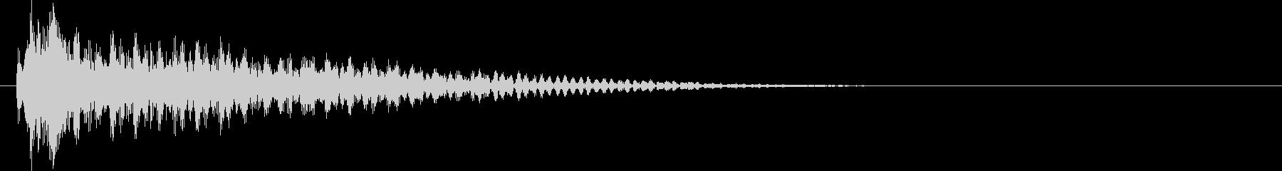 ジャン(アラート音・告知・警告音)の未再生の波形