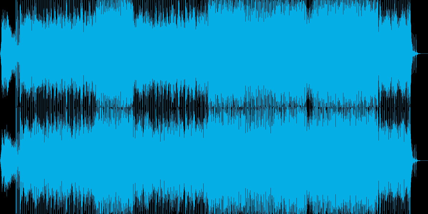 エキゾチックなラテン調リズム曲の再生済みの波形