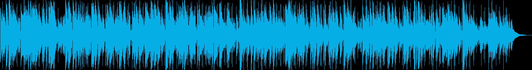 静かに奏でるギターのイージーリスニングの再生済みの波形
