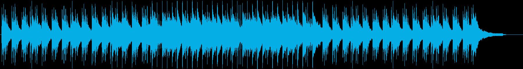 優しい日常を感じるピアノメインのBGMの再生済みの波形