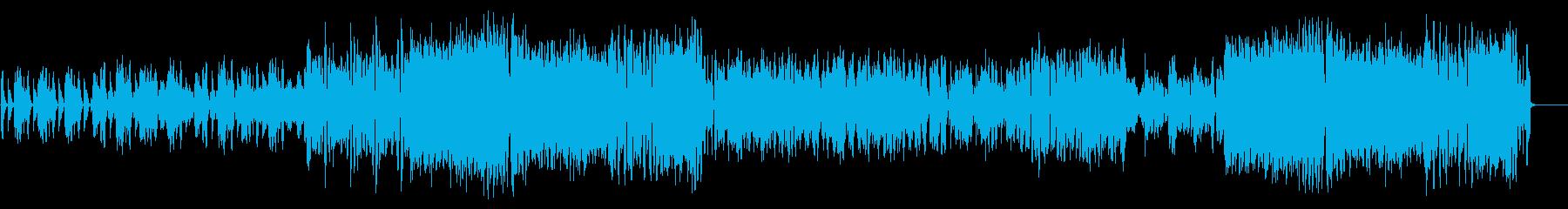 メロディーがポップなダンスミュージックの再生済みの波形