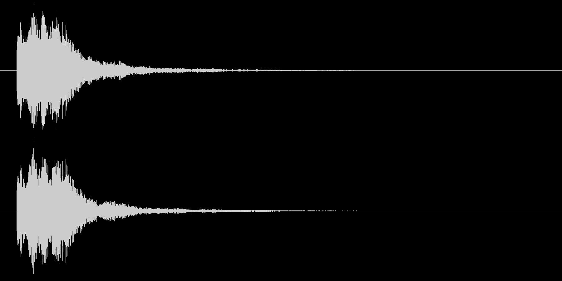 キラリン⑤(レア・お知らせ・ポイント)の未再生の波形