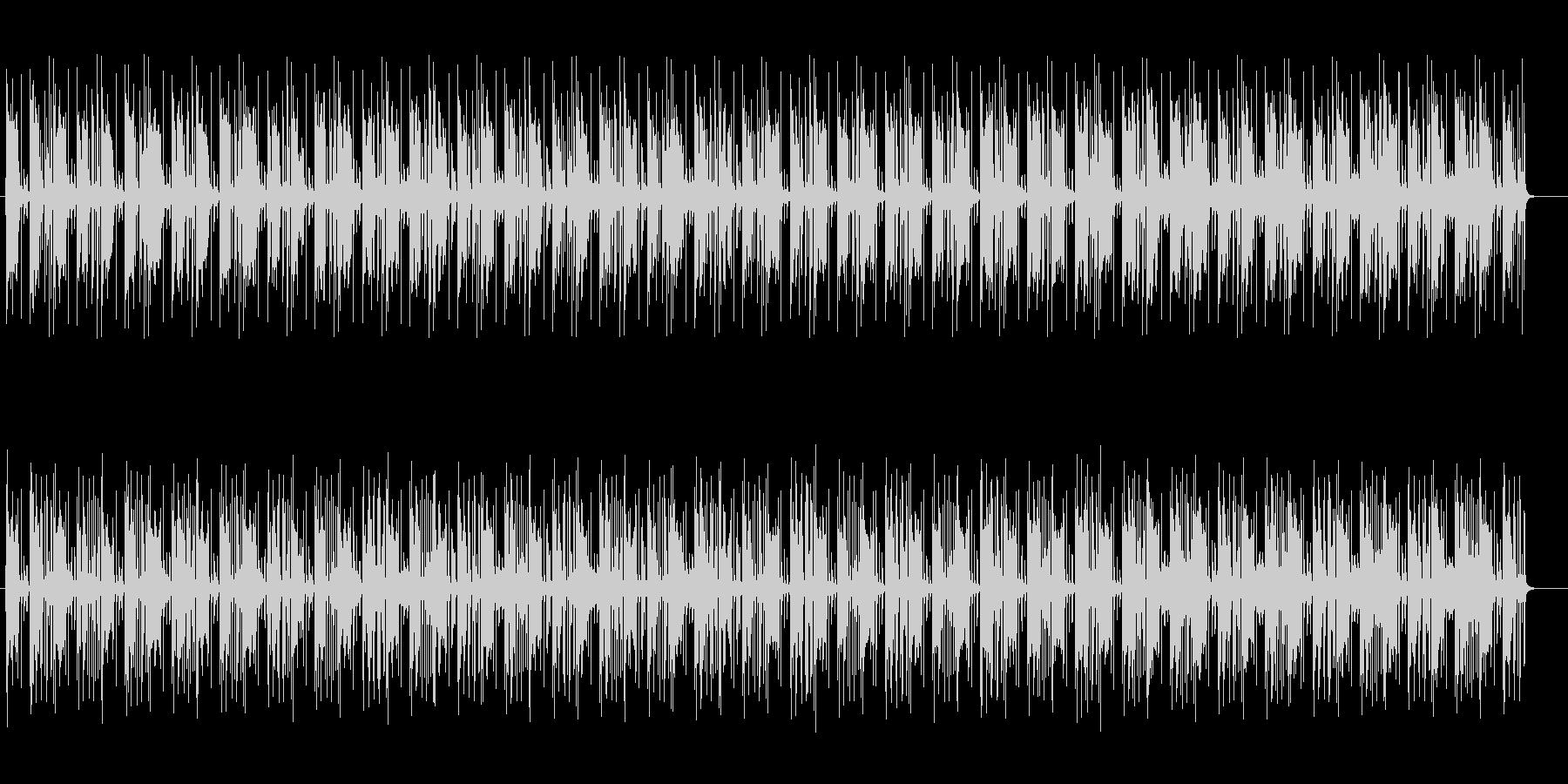 疾走感のある近未来的なミュージックの未再生の波形