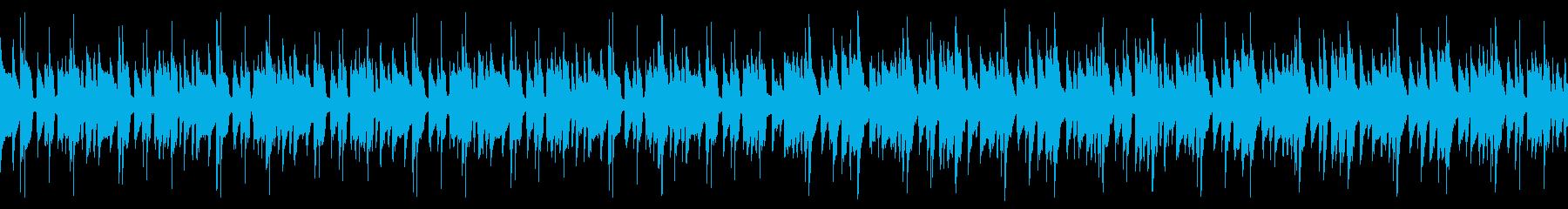 夏らしい南国ゆったりハッピーな曲(ループの再生済みの波形